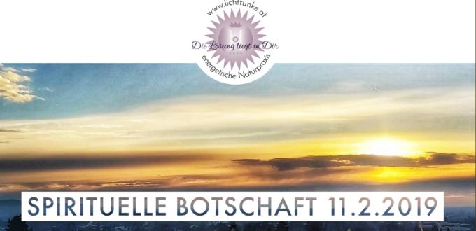 spirituelle Botschaft 11.2.2019